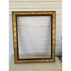 """Wooden gold accent picture frame 15"""" x 20"""""""
